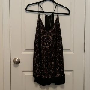 Black and gold dressy tank top/blouse